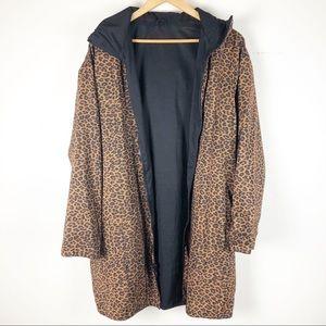 🌿 Mycra PAC Reversible Leopard Print Raincoat